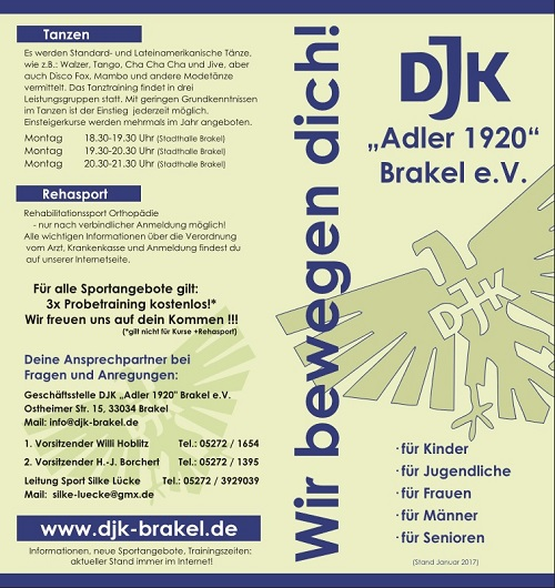 Sportangebot DJK Brakel Seite 1