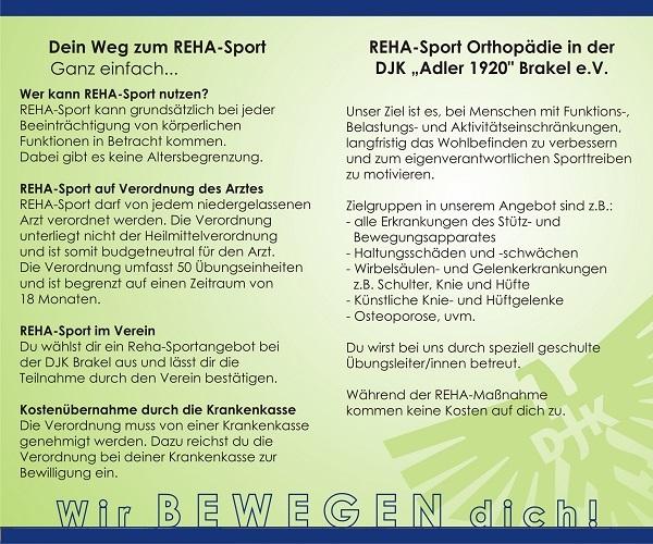 Flyer Rehabilitatiossport bei der DJK Brakel - Seite 2