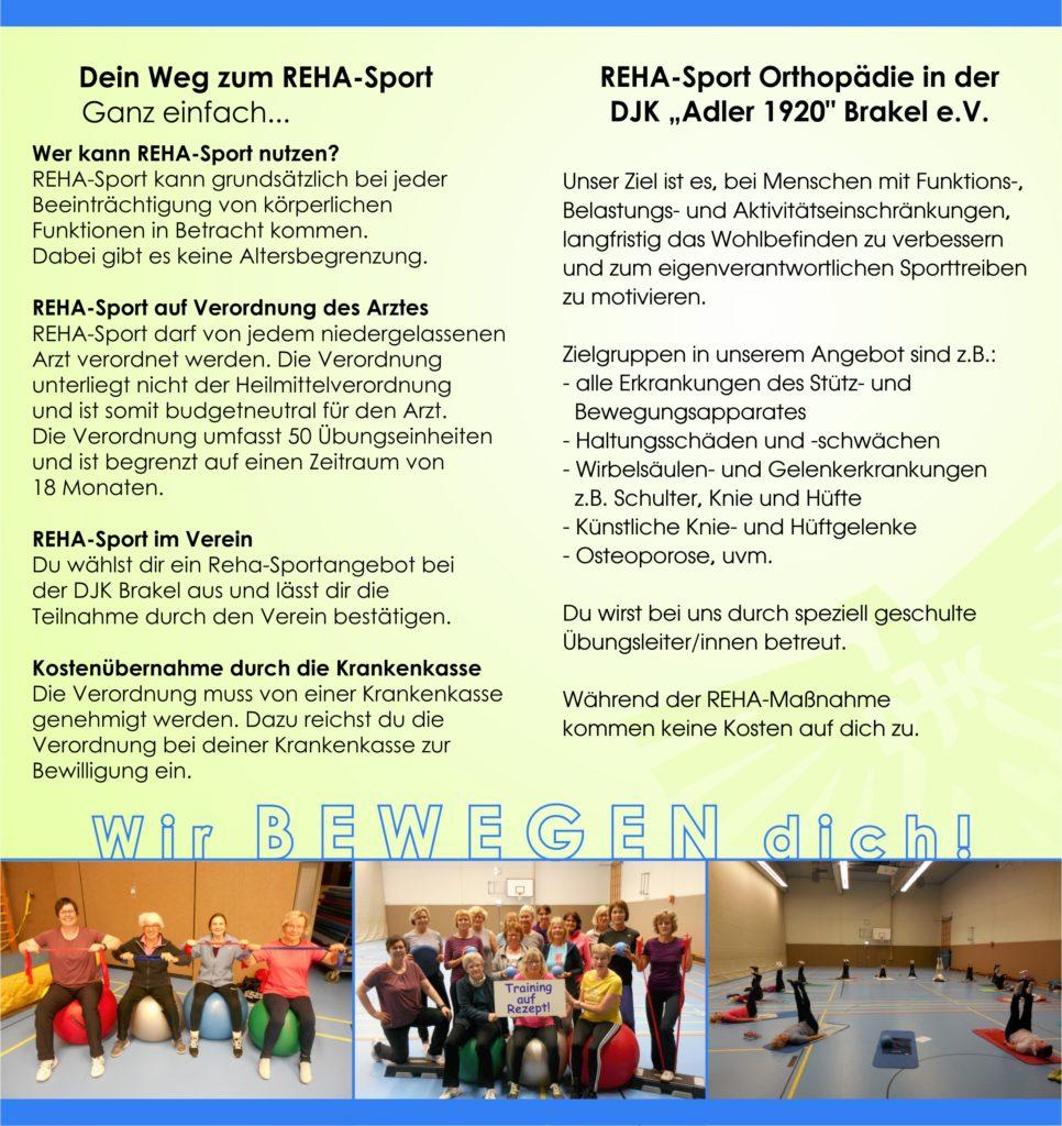 Flyer Rehabilitationssport bei der DJK Brakel - Seite 2